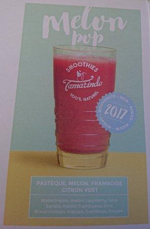 Hauteluce, Francja: Le Melon Pop, un smoothie mixé eau ou lait ...