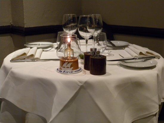 La Barca Ristorante Nice table setting & Nice table setting - Picture of La Barca Ristorante London ...