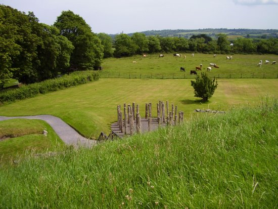 Donore, ไอร์แลนด์: Reconstructed timber circle by the main mound.