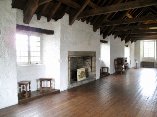 Aberdour Castle: Long Gallery used in the Outlander series