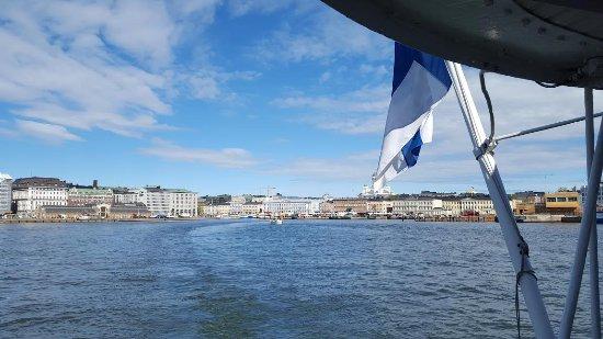 Porvoo, Finnland: View from boat leaving Helsinki