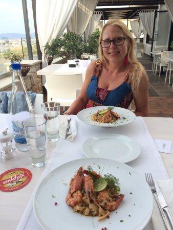 Parigoria, Greece: Pasta cretese con gamberi 🍤 molto molto buona!😍