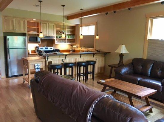Twisp, WA: Kitchen and sitting areas.