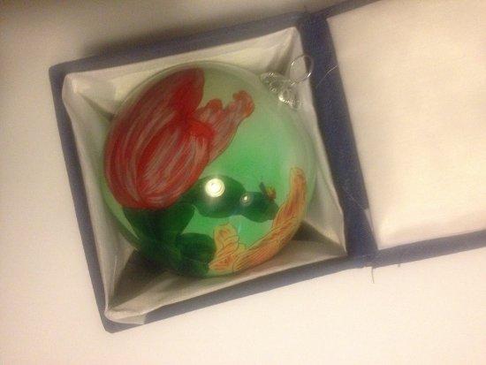 Schiermonnikoog, Nederland: handgeschilder kerstbal