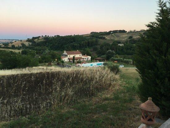 San Costanzo, Itália: Vista dell'agriturismo