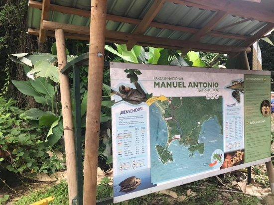 Manuel Antonio nasjonalpark, Costa Rica: Map of park