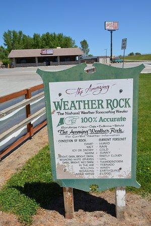 Buffalo, WY: Weather rock