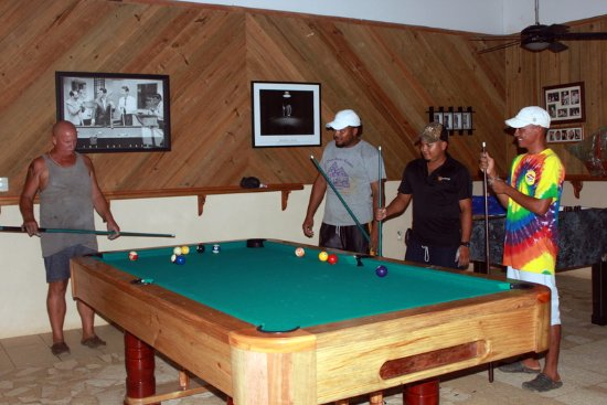 First Game On The New Pool Table Picture Of GGs Clearwater - First pool table