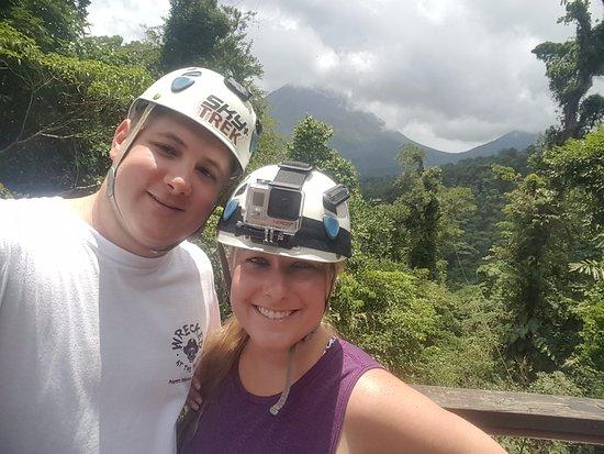 Sky Adventures - Arenal Park : Enjoying the great zipline views!