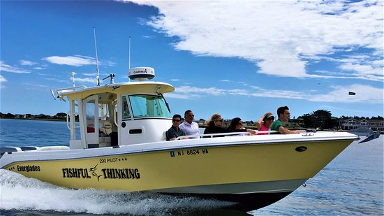 Beach Haven, NJ: LBI Boat Tours cruising south on LBI bay