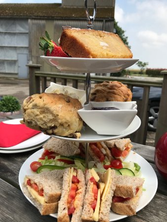 Birchington, UK: Afternoon tea for two, with the largest scones ever seen!