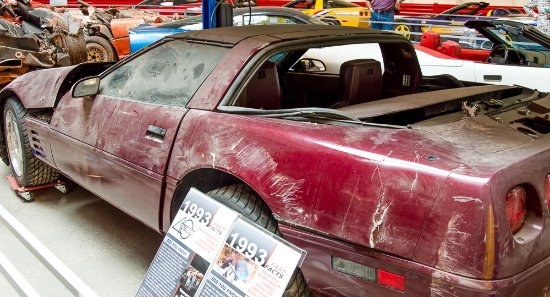 Bowling Green, KY: Corvette fallen into the sinkhole