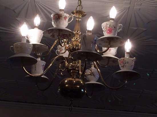 Plymouth, MI: Tea cups chandelier