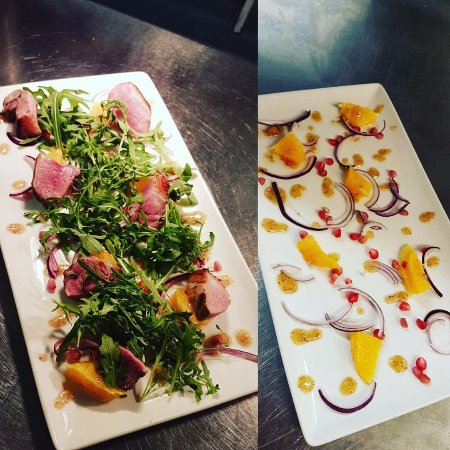 Sale, UK: Honey roast duck with orange and pomegranate salad