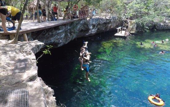 Yucatan, Meksyk: Eden Cenote Cliff Dive