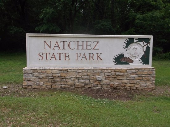 Natchez, MS: Entrance sign.