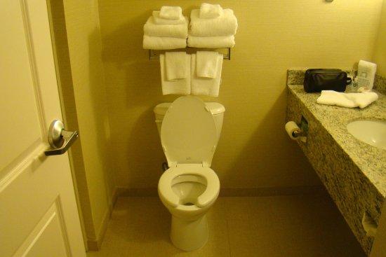 Marietta, OH: Putting towels in the urine splash zone is a bad idea!
