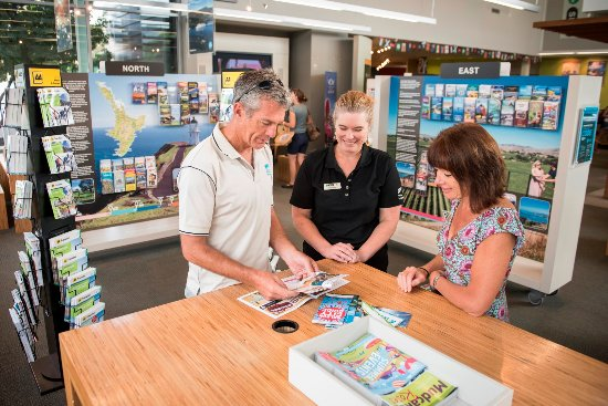 Nelson, New Zealand: We have an abundance of information and brochures.