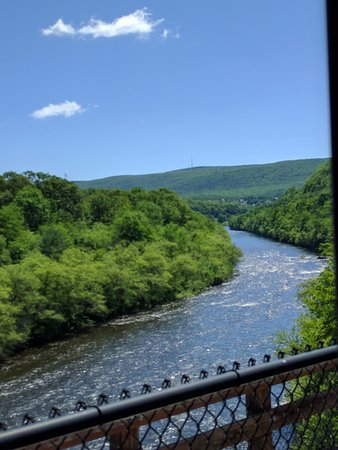 Jim Thorpe, PA: View from Train