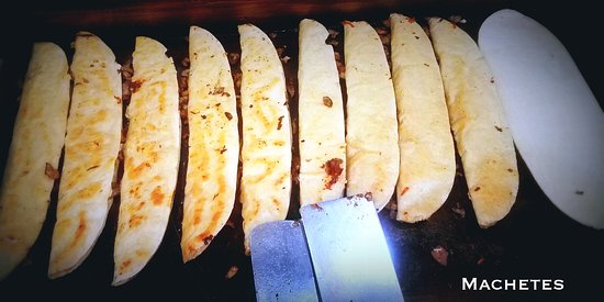 Independence, MO: Machetes! Giant handmade corn quesadillas
