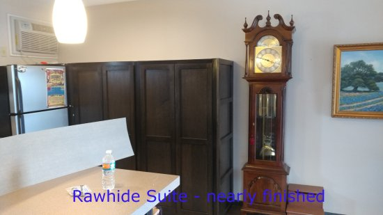 Motel Safari: sneak peek photo of nearly finished Rawhide Suite