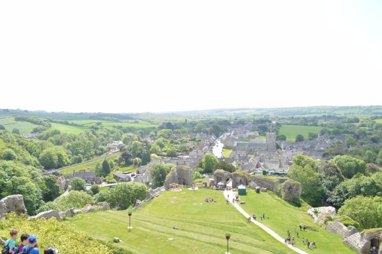 Corfe Castle, UK: View from top of the castle