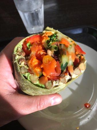 Rocklin, CA: Chana Bean Wrap with Avocado