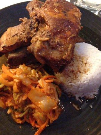 Bankstown, Australia: Korean ribs with kimchi