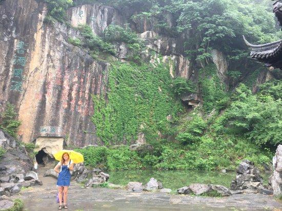 Chuzhou, China: cave lake and water fall