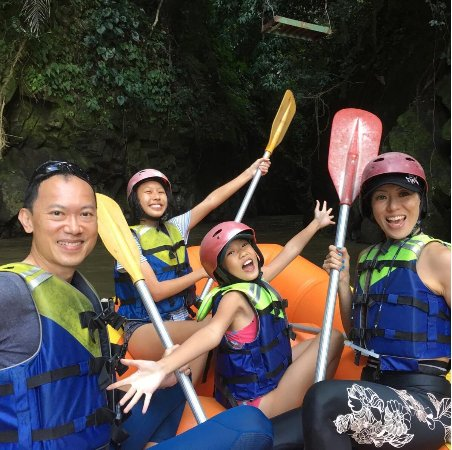 White water rafting in Ayung river!