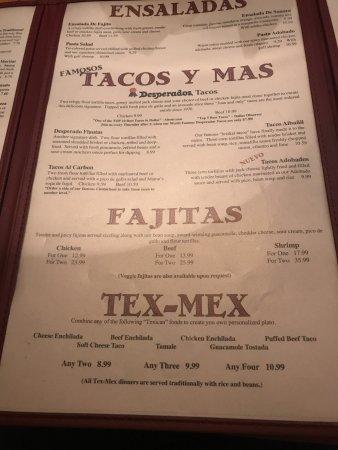Photo2 Jpg Picture Of Desperados Mexican Restaurant Garland Tripadvisor