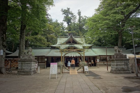 常総市, 茨城県, 拝殿:夏祭り用の輪が用意されていました