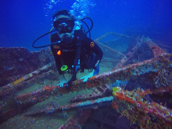 Action Divers: Exploring the ship wreck!