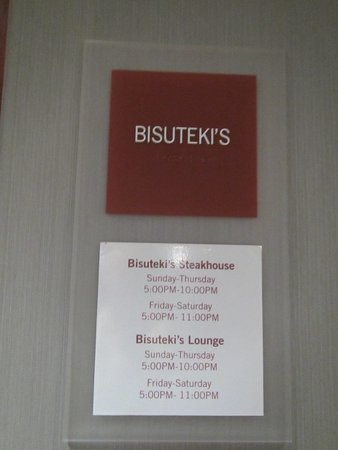 Revere, MA: Sign showing that Bisuteki runs the restaurant and the Lounge