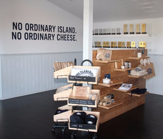 King Island Dairy merchandise available.