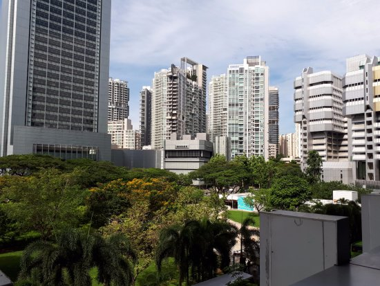 Orchard Road, Singapore: Singapore: looking out over the city from one of the many malls