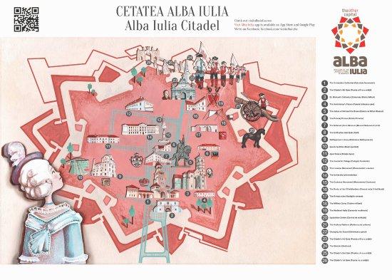 Art Map for travelers - Bild von Citadel of Alba Iulia, Alba Iulia Citadel Map on
