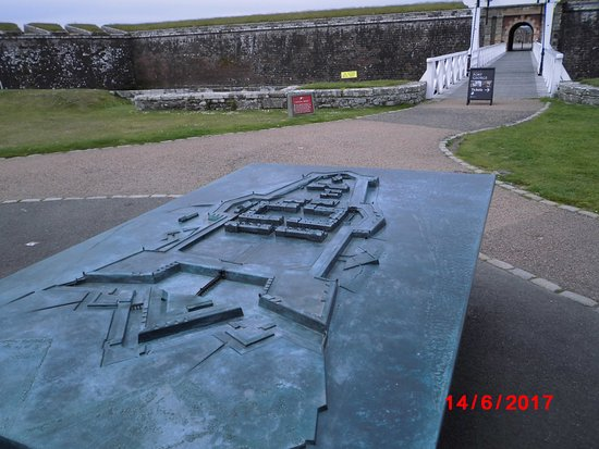 Ardersier, UK: Fort George bronze model