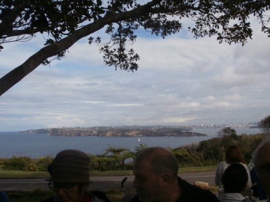 Manly, Australia: View of South Head and harbour entrance from Cafe.