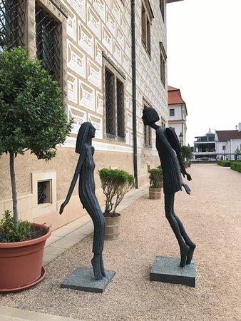Litomysl, Τσεχική Δημοκρατία: お城の裏のオブジェ