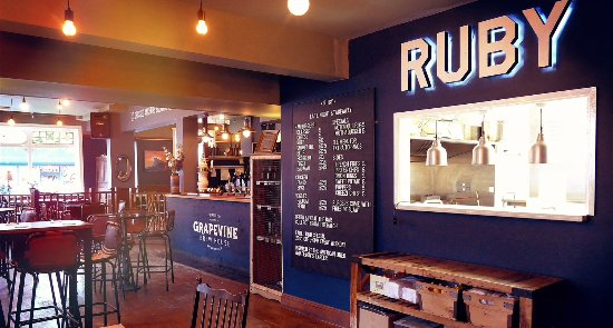Relax in the friendly atmosphere of The Grapevine whilst enjoying a mouth watering treat from Ru