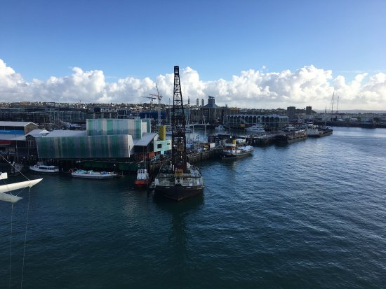 Auckland Waterfront Serviced Apartments: View from the lounge room Of our 3 bedroom apartment