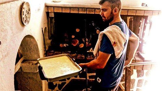 Agios Georgios, Greece: Wood oven!!! mousaka,gemista and goat!!!