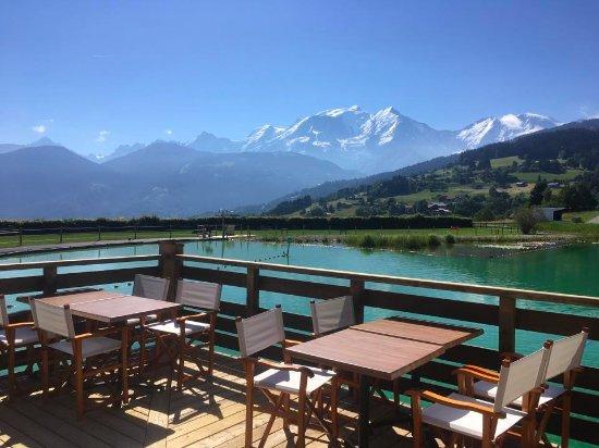 Combloux, Francja: Terrasse vue mont blanc