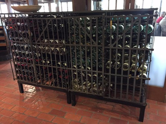 Milawa, Australia: One of many beautiful wine racks on display.