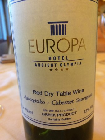 Hotel Europa House Red - Droyva, Elis, Greece. Not a bad drop.