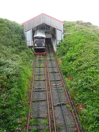 Aberystwyth, UK: The top of the line (view from railway bridge)