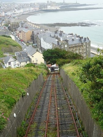 Aberystwyth, UK: The bottom of the line (view from railway bridge)