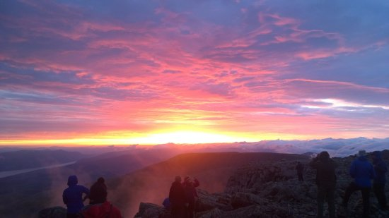Kinlochleven, UK: Summer solstice sunrise from the Summit of Ben Nevis