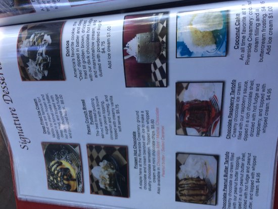 Port Jervis, Nowy Jork: One Ice Cream Menu Page